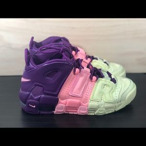 Nike Air More Uptempo Citron Pink Size 5.5Y